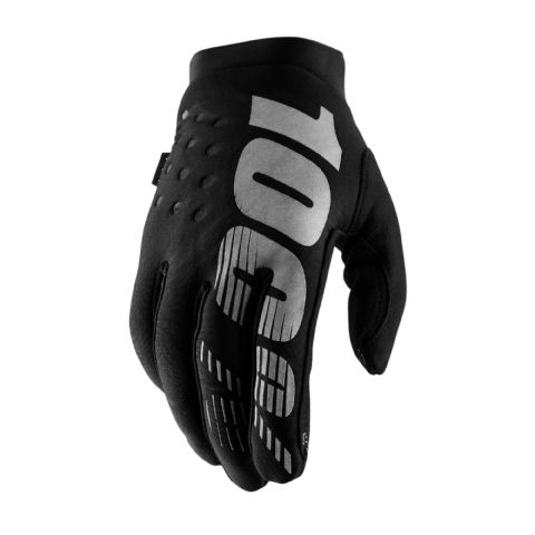BRISKER 100% Glove Black/Grey Youth